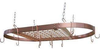 Range Kleen 24-Piece Copper Plated Oval Pot Rack