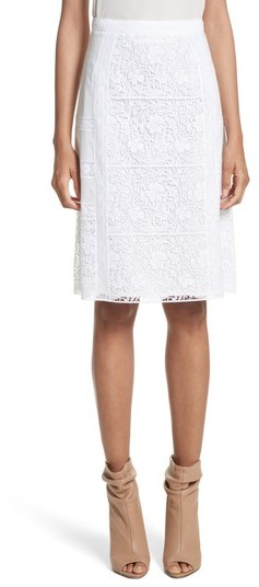 Women's Burberry Drin Lace A-Line Skirt