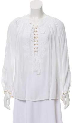 Melissa Odabash Alessandra Lace-Up Top w/ Tags