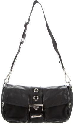 pradaPrada Tessuto & Leather Shoulder Bag