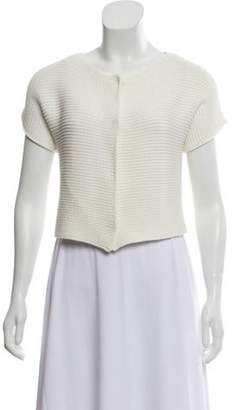 Fabiana Filippi Knit Short Sleeve Shrug White Knit Short Sleeve Shrug