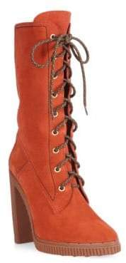 Tod's Lace-Up Block Heel Boots