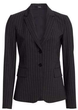 Theory Carissa Pinstripe Suit Jacket