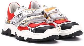 John Galliano colour-block touch strap sneakers