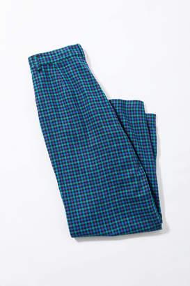 Urban Renewal Vintage Blue Plaid Trouser Pant