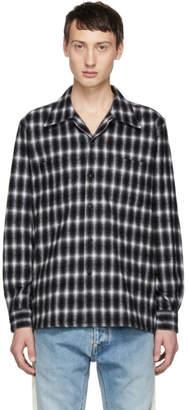 John Lawrence Sullivan Johnlawrencesullivan Black Flannel Check Shirt