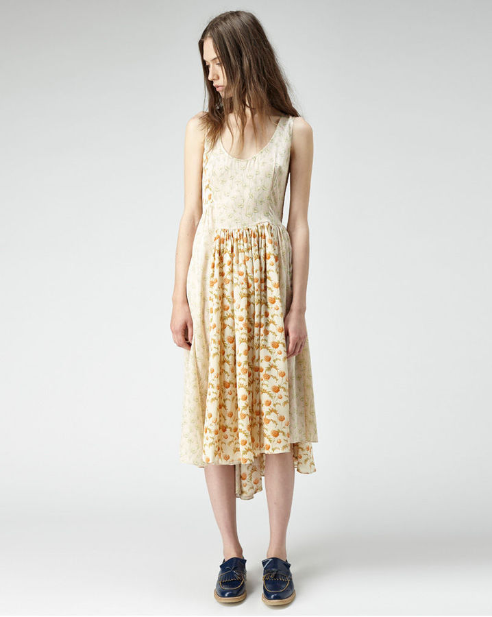 Suno Paneled Silk Dress