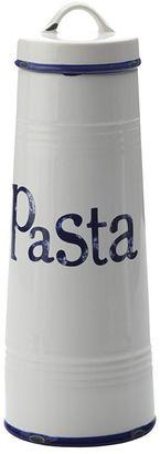 Casa Domani Rustica Pasta Canister, White/Blue, 1.7L