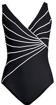 Gottex Swim Women's Sinatra Striped One-Piece Swimsuit