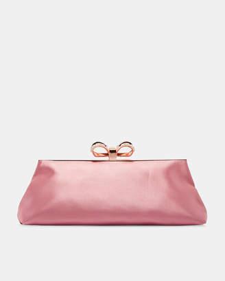 Ted Baker GEORGAA Pearl bow clutch bag