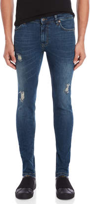 Just Junkies Distressed Skinny Stretch Jeans