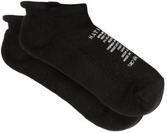 Satisfy Wool Blend Ankle Socks - Mens - Black