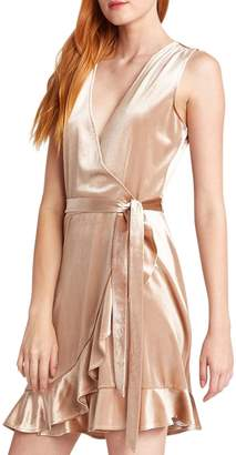 BB Dakota Power Slick Velvet Wrap Dress