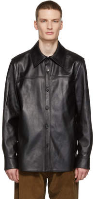 Acne Studios Black Leather Jacket