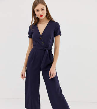 Oasis jumpsuit with belt in navy