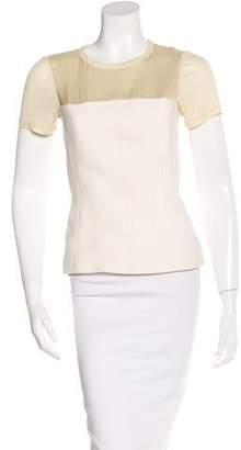 Reed Krakoff Virgin Wool Short Sleeve Top