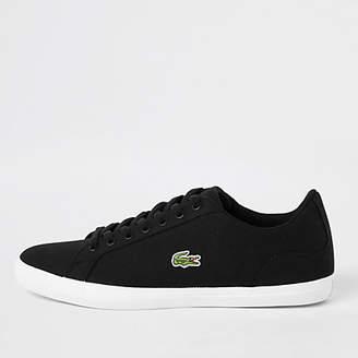 River Island Lacoste Lerond black sneakers