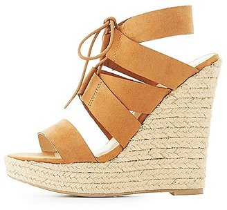 Lace-Up Espadrille Wedge Sandals $35.99 thestylecure.com