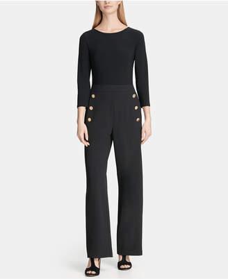 7b34d65d55ad DKNY 3 4 Sleeve Sailor Pant Combo Jumpsuit