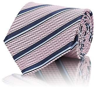Ermenegildo Zegna Men's Striped Silk Jacquard Necktie