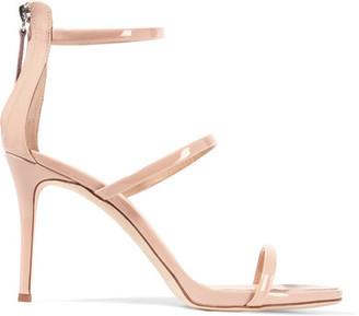 Giuseppe Zanotti - Patent-leather Sandals - Blush $725 thestylecure.com