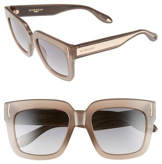 Women's Givenchy 53Mm Sunglasses - Mud Beige/ Grey
