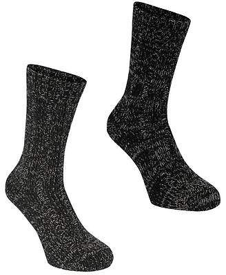 Soul Cal SoulCal Mens 2 Pack Boot Socks Knitted Casual Accessories