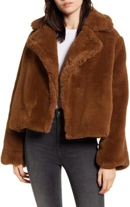BB Dakota Big Time Faux Fur Jacket