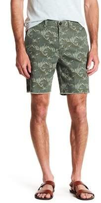 Michael Bastian Panda Print Frayed Hem Shorts