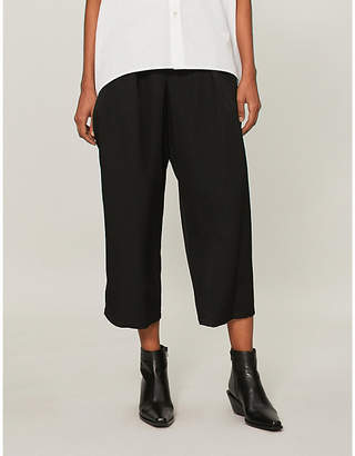 Y's Ys Relaxed-fit cropped wool trousers