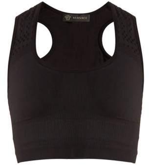 Versace Scoop-neck performance bra