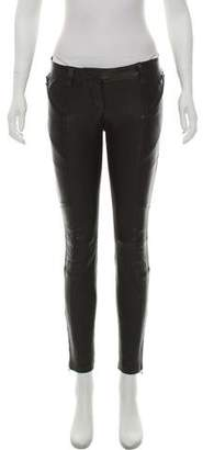 Pierre Balmain Leather Skinny Pants