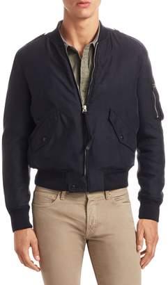 Tom Ford Men's Snap Tab Bomber Jacket
