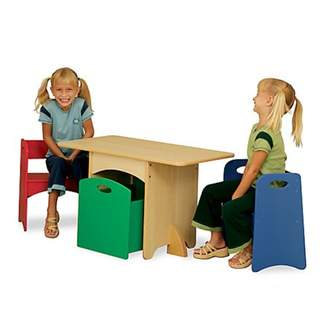 Kid Kraft Table With Red and Blue Benches