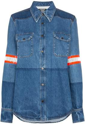 Calvin Klein fireman band bleached denim shirt