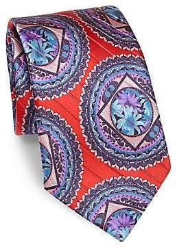 Ermenegildo Zegna Men's Oriental Woven Silk Tie