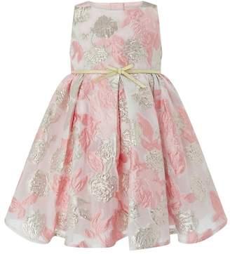 Monsoon Girls Pink 'Hallie' Jacquard Dress