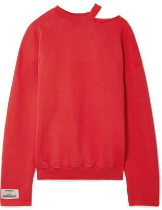 Vetements Oversized Appliquéd Cutout Stretch-cotton Jersey Sweatshirt