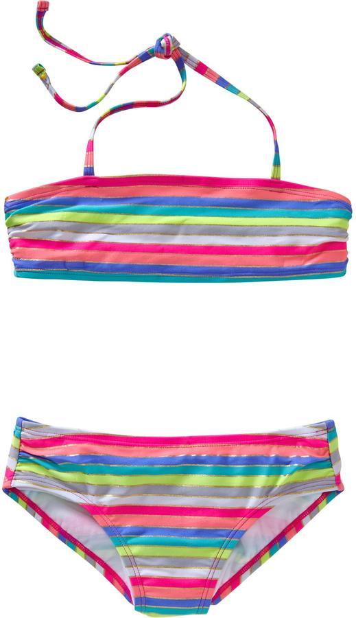 Old Navy Girls Multi-Stripe Bandeau Bikinis