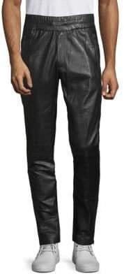 J. Lindeberg Classic Leather Track Pants