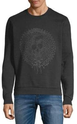 Just Cavalli Tonal Graphic Cotton Sweatshirt