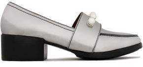 3.1 Phillip Lim Quinn Faux Pearl-Embellished Metallic Leather Loafers