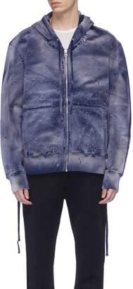 Faith Connexion Lace-up outseam paint splatter zip hoodie