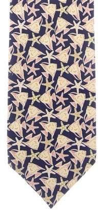 Loewe Fish & Starfish Silk Tie