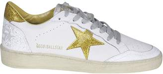 Golden Goose Glittered Superstar Lace-up Sneakers