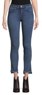 Marina Rinaldi Ashley Graham x Fringed Step Hem Jeans