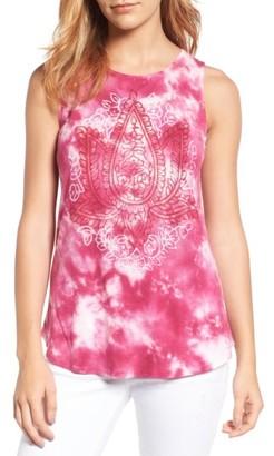 Women's Lucky Brand Lotus Tie Dye Tank $39.50 thestylecure.com
