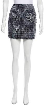 Torn By Ronny Kobo Printed Mini Skirt w/ Tags