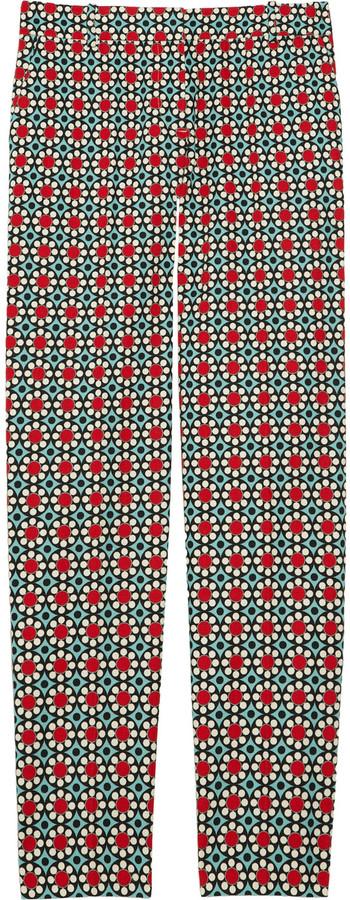 J.Crew Mosaic-print cotton-piqué Capri pants