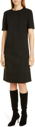 Lafayette 148 New York Jacintha Tonal Stitch Shift Dress